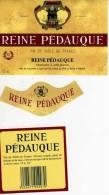 Etiquette De Vin  Reine Pedauque Vin De Table De France Mis En Bouteilles A Lyon Chais Du Pre La Reine - Rouges