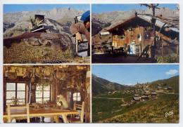 """St  VERAN--datée 1976--Le Café """"Les Marmottes"""" à St Véran --Vues Diverses  Cpsm 10 X 15   éd Arts Graphiques - Autres Communes"""