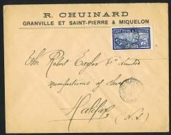 SPM     Lettre Pour Le Canada   Yv 85  Goëland 25 Centimes Seul - Lettres & Documents