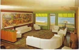 Grand Marais MN Minnesota, Shoreline Motor Lodge Mid-century Atomic Interior Decor, C1950s Vintage Postcard - United States