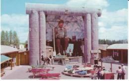 Brainerd MN Minnesota, Roadside Amusement Ride Animated Paul Bunyan Atrraction, C1950s/60s Vintage Postcard - United States