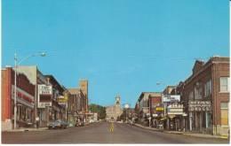 Crystal Falls MI Michigan, Superior Ave Street Scene, Drug Store, Bank, Autos, C1960s Vintage Postcard - United States