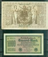 Lot De 4 Billets Allemand En Bon état Moyenne 6/10 - Phi134 - [ 3] 1918-1933 : Weimar Republic