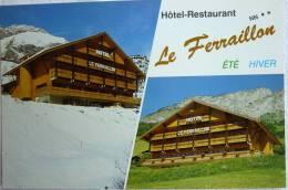 HOTEL RESTAURANT LE FERRAILLON GERARD SOPPET PROPRIETAIRE - ABONDANCE 74360 - IMP SOPIZET - CPSM NON ECRITE - Hotels & Restaurants