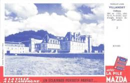 Buvard Piles Mazda A La Ville A La Campagne  Chateau De  Villandry N°2 - Piles