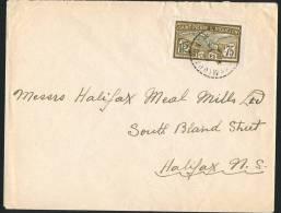 SPM  1935   Lettre Pour Le Canada   Yv 91  Goëland 75 Centimes Seul - Lettres & Documents