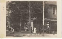 Shelby OH Ohio, Interurban Station, Street Car Transportation, C1900s Vintage Real Photo Postcard - Otros