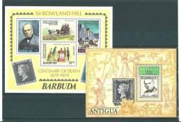 Barbuda: BF 40/ 41 **  Rowland Hill - Antigua Et Barbuda (1981-...)