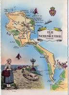 Ile De Noirmoutier..Carte Géographique..le Passage Du Gois - Ile De Noirmoutier