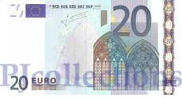 "EUROPEAN UNION 20 EURO 2002 PICK 3l UNC TRICHET ""G011E3"" - EURO"