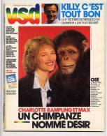 VSD 477 23/10/1986 Jean-claude Killy, Charlotte Rampling, Alain Prost, Etienne Daho, Le Yeti Existe - Gente