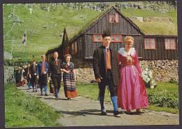 Faroe Islands PPC From A Wedding In Kirkjubø, Sent To KASTRUP (2 Scans) - Färöer