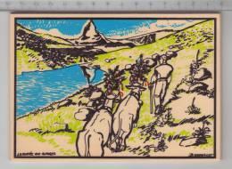 La Montée Aux Alpages / Almabtrieb - Carte Postale En Bois / Holz Postkarte / Wood Postcard - Cartes Postales