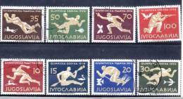 1956 MiNr. 804 - 811 Kompl. Ausg. Gestempelt - Yugoslavia