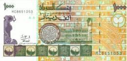 SUDAN 1.000 DINARS 1996 PICK 59 UNC - Sudan