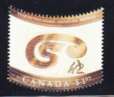 Canada MNH Scott #1884i Single From Souvenir Sheet $1.05 Year Of The Snake - Chinese Lunar New Year - 1952-.... Reinado De Elizabeth II