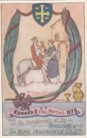 EDWARD II THE MARTYR 975 THE KING INSURANCE CO LTD (ADV061) - Advertising