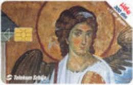 = SERBIA  - 2002 -  Fresco, Mileseva Monastery 1225  =  2 - Yougoslavie