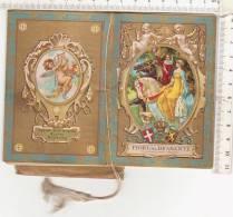 PO5405B# CALENDARIETTO FIORI DEL BRABANTE (G.Forzano) PUBBLICITA' VINO MARSALA STAB. PIETRO CUDIA/VERMOUTH/COGNAC  1933 - Calendari