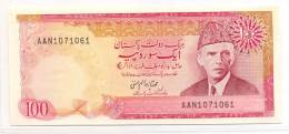 PAKISTAN OLD RS100 IMTIAZ ALAM HANFI PAPER MONEY UNC WITH TWO USUAL PIN HOLES. - Pakistan