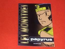 Livret - Les Monstres De Papyrus - De Gieter - Papyrus - Autres