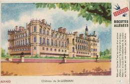 """BUVARD PUBLICITAIRE - BISCOTTES ALLEGEES GREGOIRE - """" CHÂTEAU DE St-GERMAIN """" - Biscottes"""