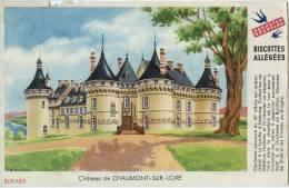 """BUVARD PUBLICITAIRE - BISCOTTES ALLEGEES GREGOIRE - """" CHÂTEAU DE CHAUMONT-SUR-LOIRE """" - Biscottes"""