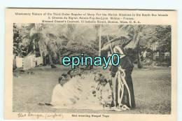B - ILES TONGA - Missions Maristes - Le Tissage Du Tapis - Tisserand - VENTE FLASH - Tonga