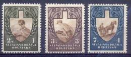 HR 1943-094-6 WORK DAYS, CROATIA HRVATSKA, 3v, MNH - Kroatië