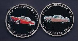Surinam / Suriname 1996 100 Gulden Thunderbird 1956 + 1957 - Munten & Bankbiljetten