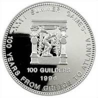 Surinam / Suriname 1996 100 Gulden Discusthrower - Munten & Bankbiljetten