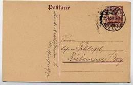 DR  P 116  Postkarte  Dresden - Rübenau  1920  Kat. 4,50 € - Deutschland