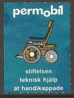 SCHWEDEN Sweden Hilfe Für  Behinderte Help For Disabled Persons (*) - Vignetten (Erinnophilie)