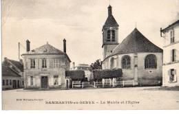 Dammartin En Serve - La Mairie Et L' Eglise - Autres Communes