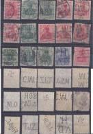 Dt. Reich Perfin Firmenlochnung Set Of Stamps 1 - Usati