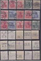 Dt. Reich Perfin Firmenlochnung Set Of Stamps 2 - Usati