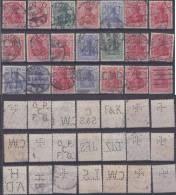 Dt. Reich Perfin Firmenlochnung Set Of Stamps 3 - Usati
