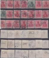 Dt. Reich Perfin Firmenlochnung Set Of Stamps 4 - Usati
