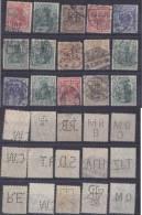 Dt. Reich Perfin Firmenlochnung Set Of Stamps 5 - Usati