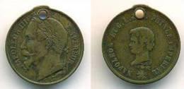 France Médaillette Napoléon III - Royal / Of Nobility