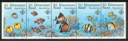 1987 Zil Elwannyen Sesel - Seychelles Fauna Marina Marine Life Pesci Fishes Fische Poissons Set MNH** Po10 - - Seychelles (1976-...)