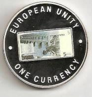 ZAMBIA 1999, 1000 KWACHA PROOF - NOTE 5 EURO BACK - Zambia