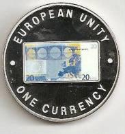 ZAMBIA 1999, 1000 KWACHA PROOF - NOTE 20 EURO BACK - Zambia