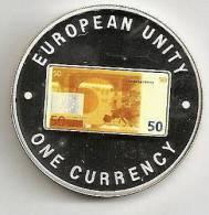ZAMBIA 1999, 1000 KWACHA PROOF - NOTE 50 EURO BACK - Zambia