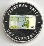 ZAMBIA 1999, 1000 KWACHA PROOF - NOTE 100 EURO BACK - Zambia