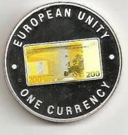 ZAMBIA 1999, 1000 KWACHA PROOF - NOTE 200 EURO BACK - Zambia