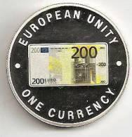 ZAMBIA 1999, 1000 KWACHA PROOF - NOTE 200 EURO FRONT - Zambia