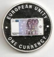 ZAMBIA 1999, 1000 KWACHA PROOF - NOTE 500 EURO FRONT - Zambia