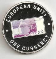 ZAMBIA 1999, 1000 KWACHA PROOF - NOTE 500 EURO BACK - Zambia