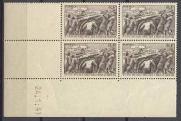 N°497 Secours National En Bloc De 4 Coin Daté Du 24/01/1941 - Neuf Luxe ** - Coins Datés